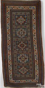 Kazak throw rug, ca. 1900, with 5 panels and an iv