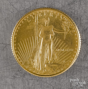 U.S. 5-dollar standing Liberty gold coin
