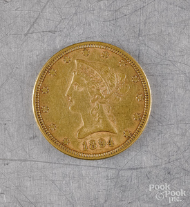 U.S. 1894 ten dollar Liberty head gold coin