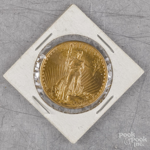 U.S. 1924 St. Gaudens twenty dollar gold coin