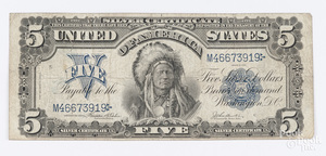 U.S. series of 1899 five dollar silver certificate
