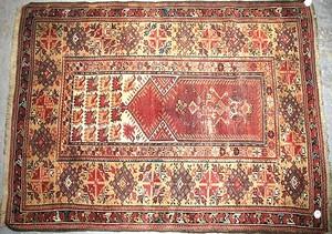 Melas Turkish prayer rug, ca. 1890, 3'7