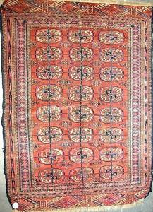 Turkoman Bohkara rug, 3'5