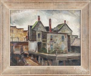 Oil on canvas cityscene