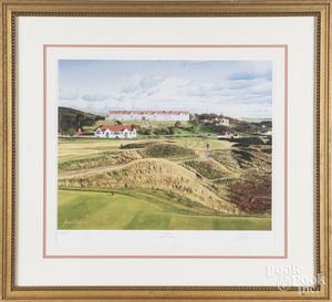 Graeme Baxter signed golf print