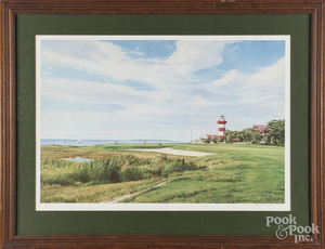 Arthur Weaver signed golf print