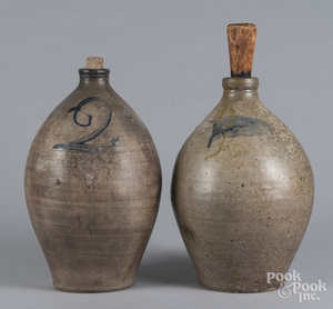 Two ovoid stoneware jugs