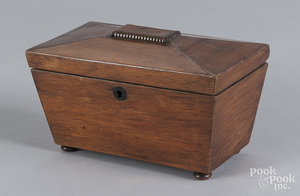 Regency mahogany tea caddy