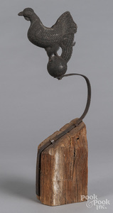 Cast iron rooster counterbalance weight