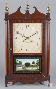 E. Terry & Son Federal mahogany clock