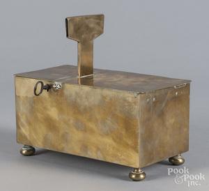 English brass honor box