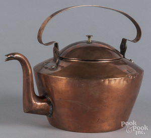 American dovetailed copper kettle