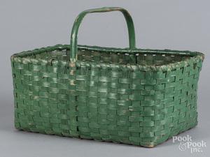 Green painted basket
