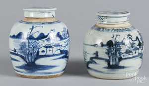 Two Chinese blue and white porcelain ginger jars