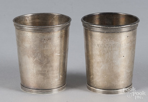 Two Alvin sterling silver cups