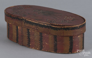 Painted bentwood box