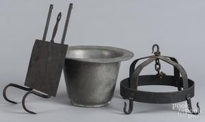 Pewter pot