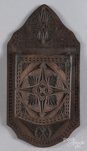 Chip carved hanging wall box