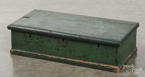 Painted pine lock box