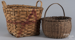 Two gathering baskets