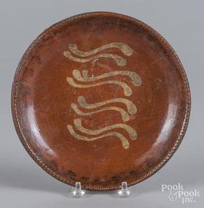Redware pie plate