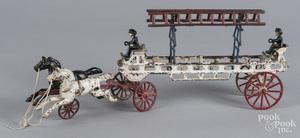 Painted cast iron ladder wagon