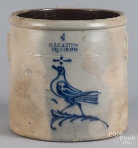 Canadian four-gallon stoneware crock