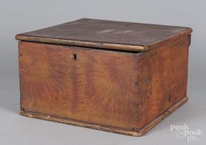 Painted poplar lock box