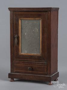 Mahogany mirrored dresser box