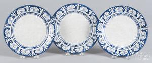 Three Dedham Pottery rabbit plates