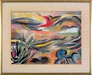 Karl Schrag (American, 1912-1995), watercolor tit