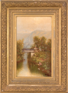 Harry J. Sunter (American, b. 1850), oil on canva