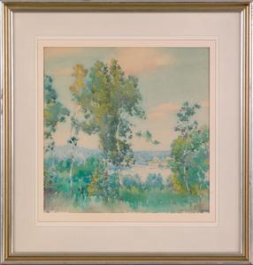 Edward Dufner (American, 1872-1957), pair of wate