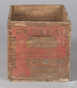 Peters wooden 12 gauge shell box