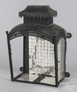 Painted tin lantern