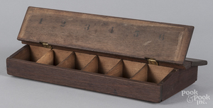 Walnut parts carry box