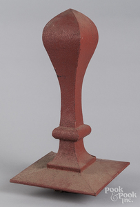 Painted tin roof finial