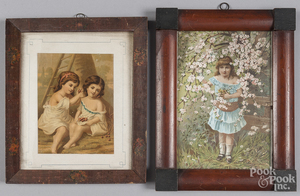 Two lithographs of children