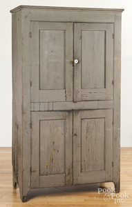 Pennsylvania painted pine canning cupboard