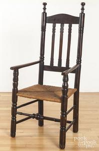 New England banisterback armchair