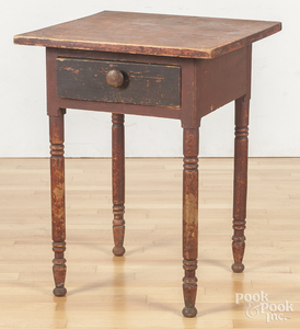 Pennsylvania painted pine one-drawer stand