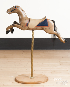 Carved and painted child's carousel horse