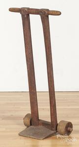 Primitive wooden hand cart