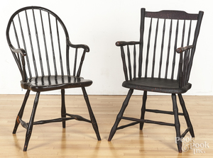 Four miscellaneous Windsor chairs