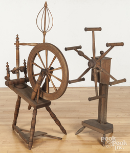 Spinning wheel and wool winder
