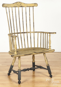 Contemporary painted fanback Windsor armchair.