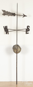 Iron weathervane directional