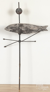 Wooden fish weathervane
