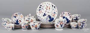 Thirty-four pieces of Gaudy Welsh porcelain