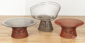 Mid-century modern stainless steel tub chair